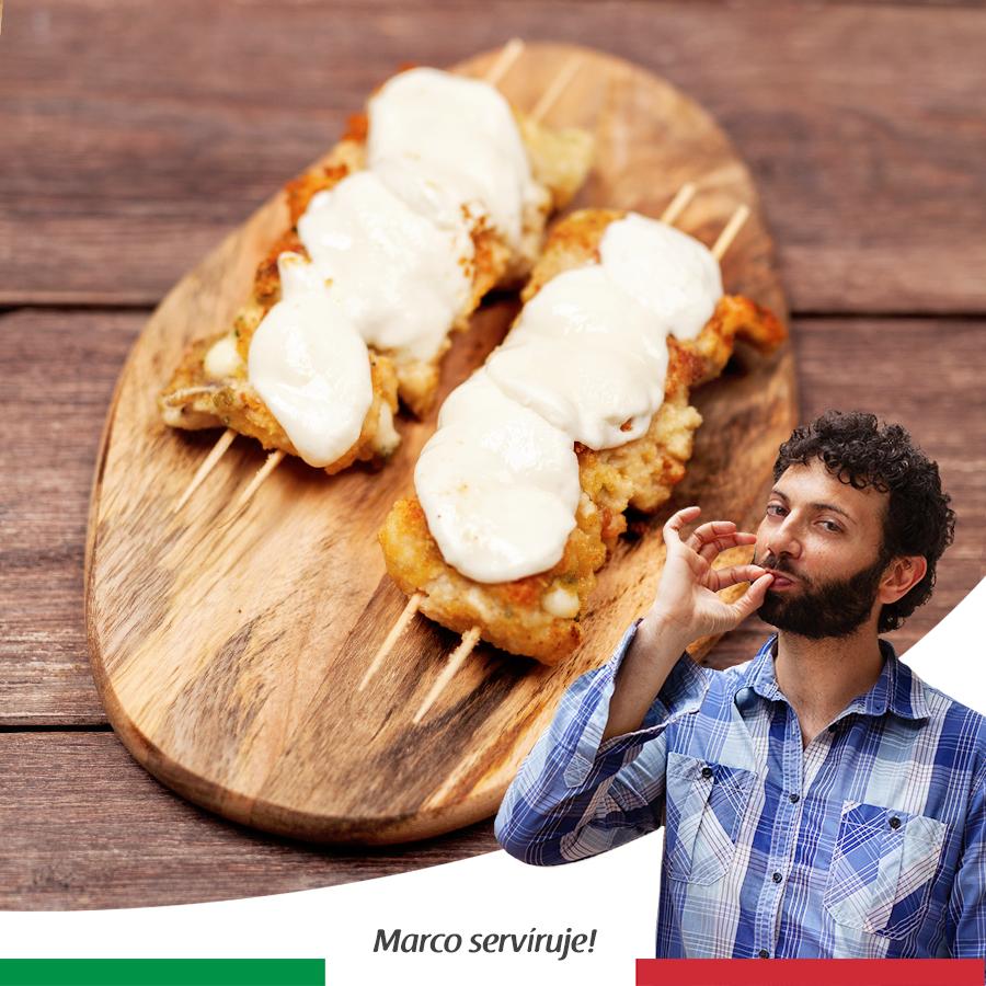 Kuřecí špízy s mozzarellou