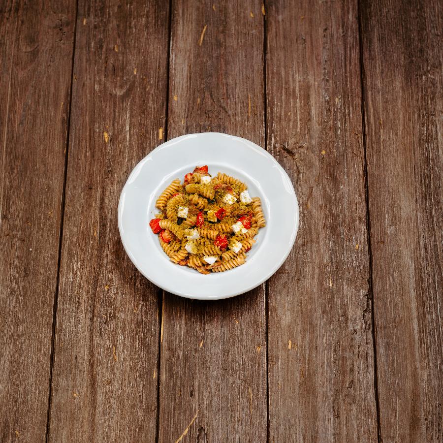 těstoviny s pistáciovým pestem